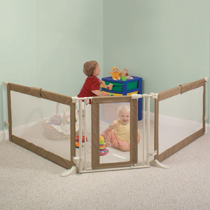 baby gate to corner off room