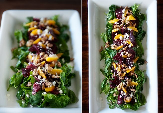 roasted beet, orange and feta salad with walnuts | www ...