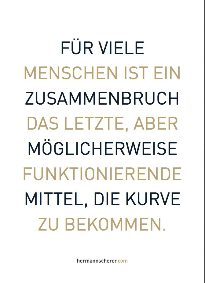 Weitere 165 Tage beginnen mit einem Zitat von Hermann Scherer. Die neuen Zitatekarten sind da. Schonungslos ehrlich und provozierend, grafisch hochwertig präsentiert und vielseitig verwendbar. Nummer 240 von 365. Die Designer-Zitatebox mit 200 Zitaten im Postkartenformat für 19,99 € zzgl. Versand hier bestellen: Lucia Lambrich (L.Lambrich@hermannscherer.com).