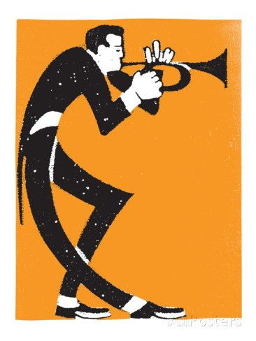Trumpet Player Giclee Print by Print Mafia - AllPosters.co.uk