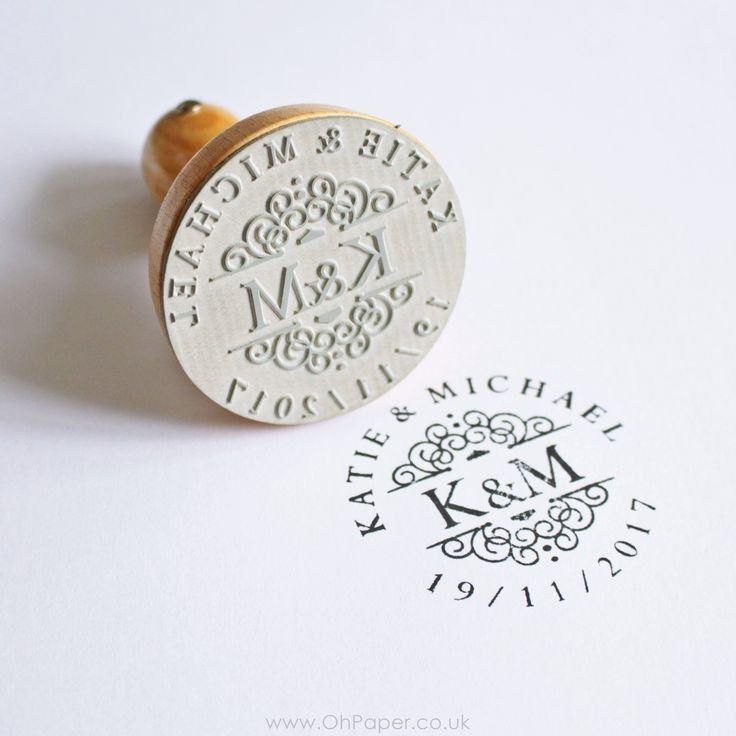 Personalised Wedding Stamp With Initials
