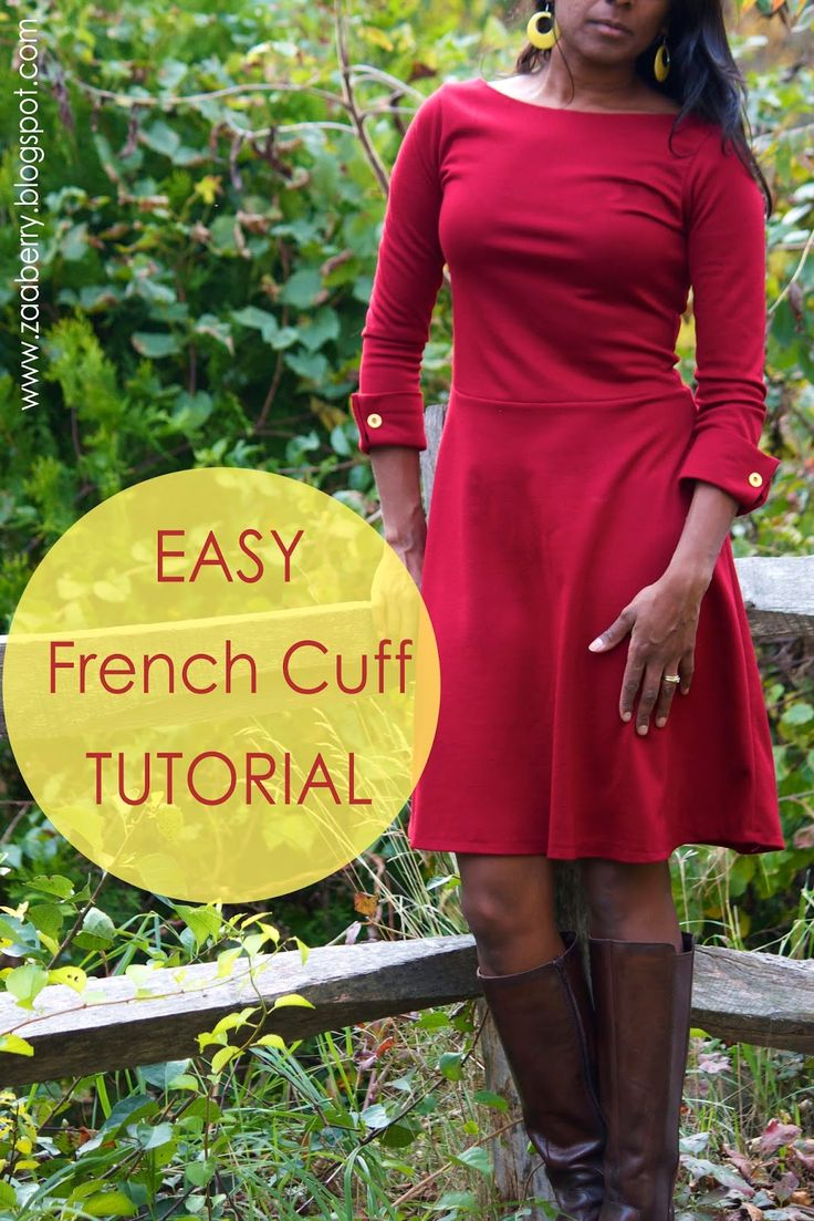 "Zaaberry, easy french cuff tutorial and boatneck ""Lady Skater"" dress"