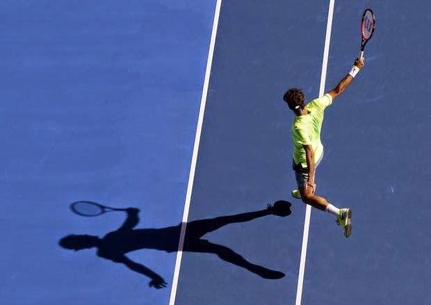 Tenis Sanatı - Roger Federer Tenis Backhand Avustralya Açık 2015