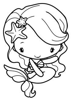 65 Beautiful Image Of Cute Mermaid Coloring Pages
