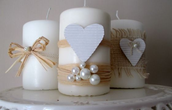 Illumina la cena di San Valentino con delle prezione candele shabby chic