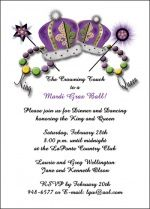 Mardi Gra party invitation stationery cards