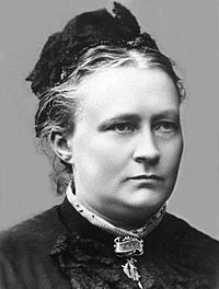 Minna Canth (19 March 1844 – 12 May 1897),   Finnish writer and social activist. Canth began to write while managing her family draper's shop and living as a widow raising seven children. Minna Canth is the first woman to receive her own flag day in Finland, starting on 19 March 2007. It is also the day of social equality in Finland.