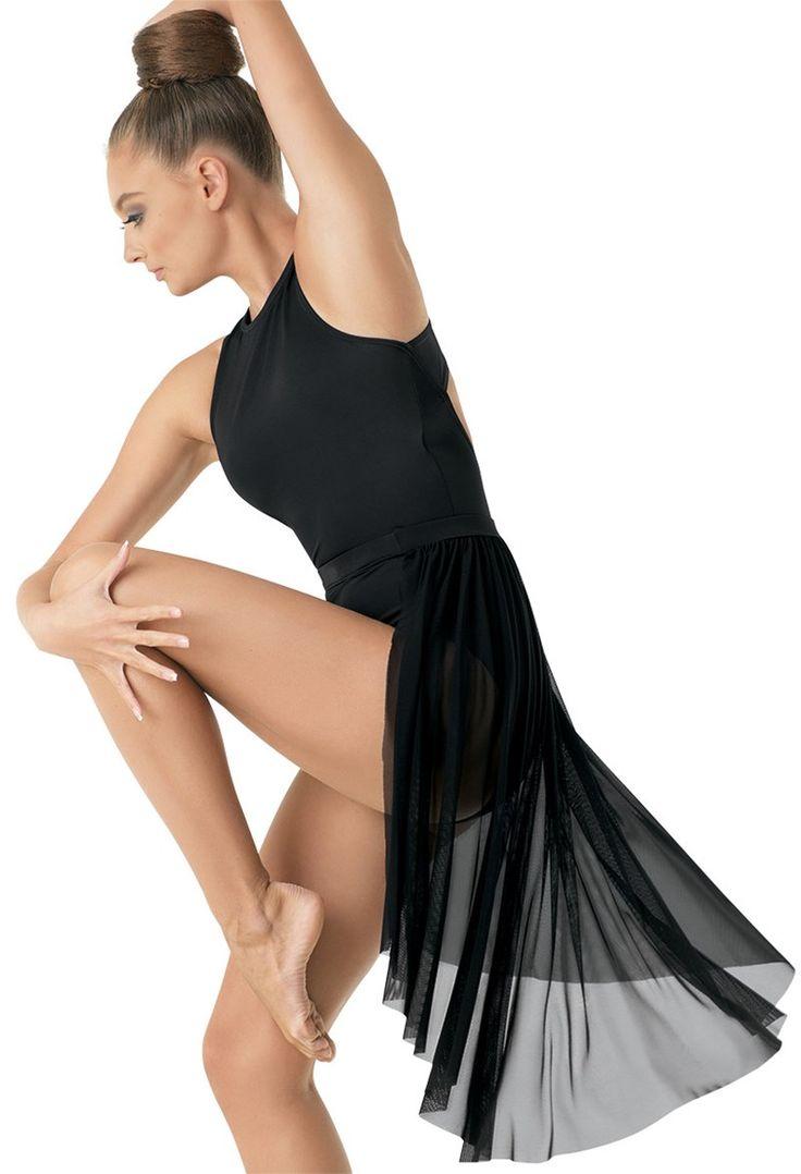 Midi Back Panel Mesh Skirt