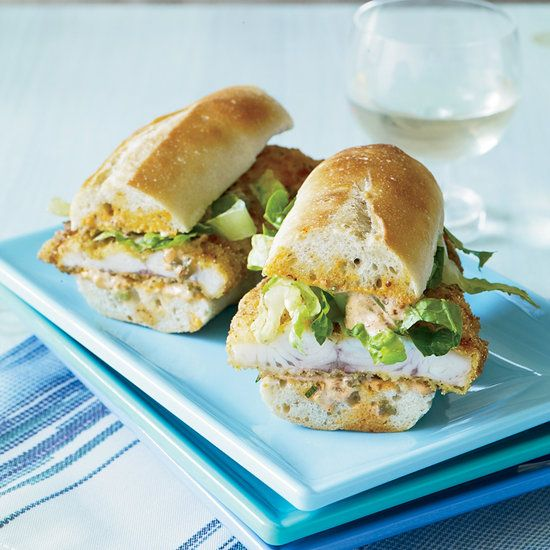 Catfish Po'Boys with Pickle Remoulade | Food & Wine