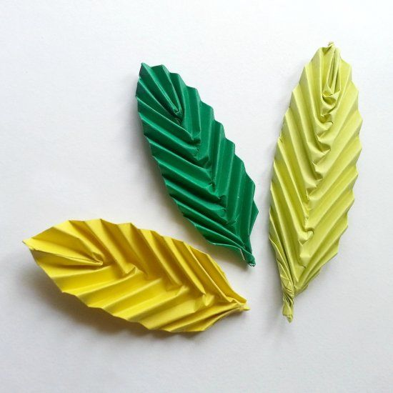 One of the easiest origami crafts and the leaves turn out really nice.