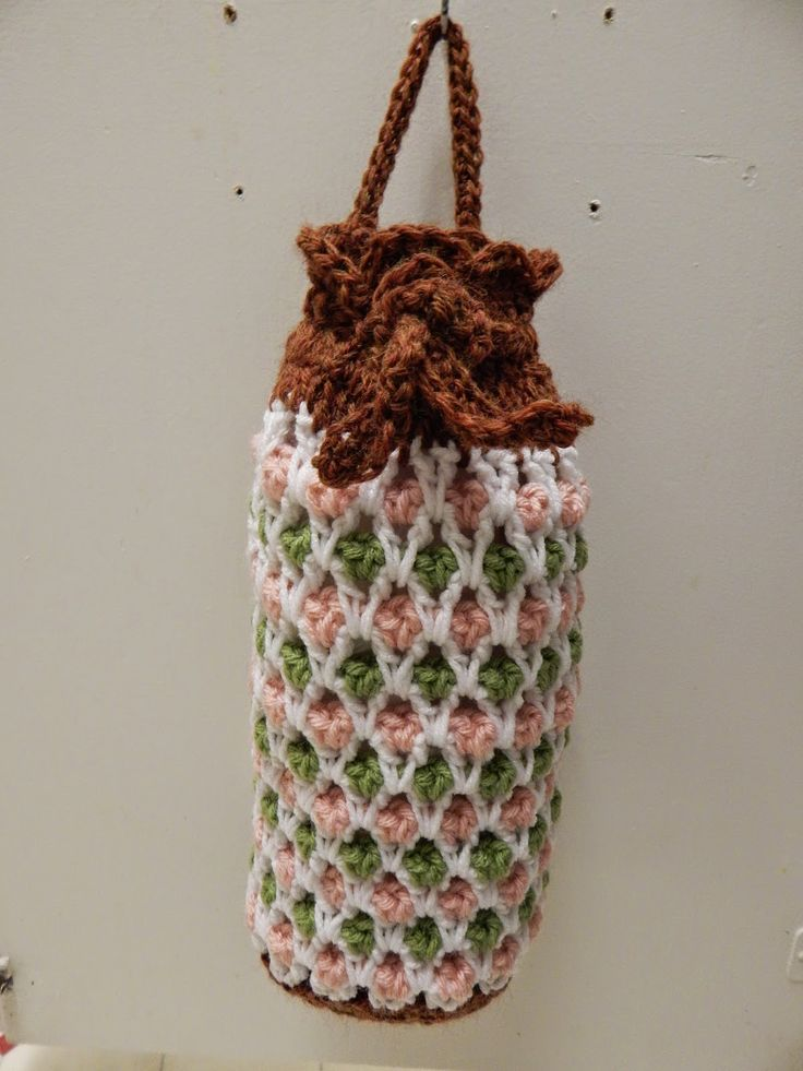 Free Knitting Pattern Grocery Bag : Free Pattern for Crochet Plastic Grocery Bag Holder by ...