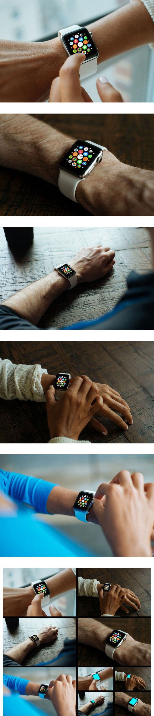 5 Apple Watch Mockups Psd