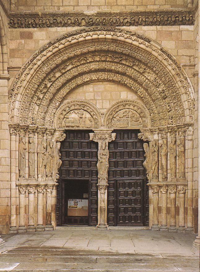 Basilica of san vicente avila spain impressive doors for Architecture romane