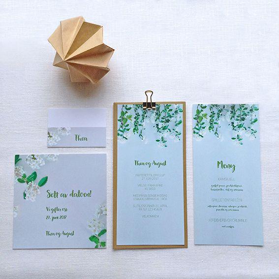 Bryllupsinvitasjon i design 'Blomsterdryss'  // ELM DESIGNKOLLEKTIV 2016
