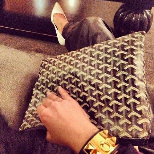 Goyard clutch (plus Celine and Hermes) | Baglady | Pinterest ...