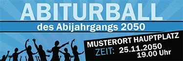 Abiturball Werbebanner in verschiedenen Größen und Farben jetzt online gratis erstellen www.onlineprintXXL.com #abiturbll #abiball #abschlussball #banner #bannervorlage #bannerdesign