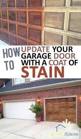 How To Update Your Garage Door With A Coat Of Stain