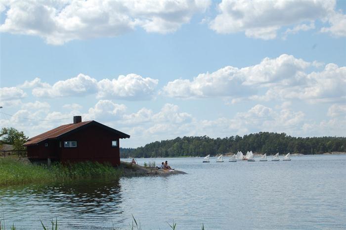 View from Sjöboden towards the sauna Djurönäset