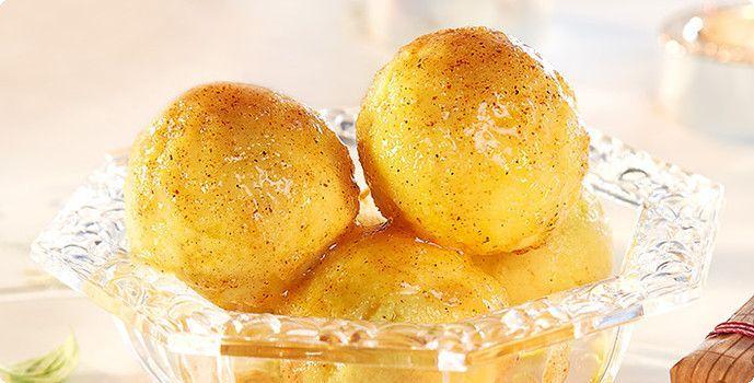 Rezept: Grießklöße mit Zimt-Butter