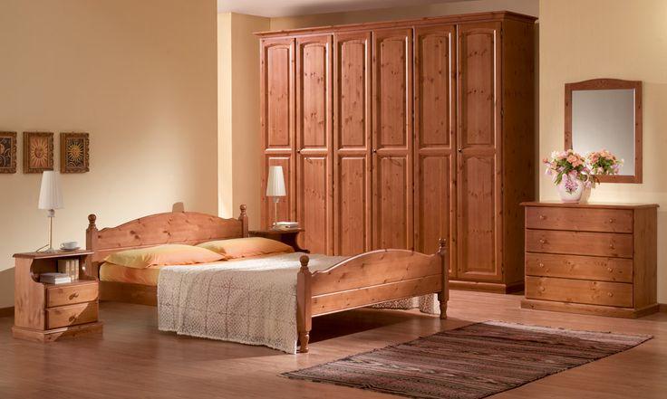 18 best camere da letto rustiche in legno massello - Camere da letto in legno massello ...