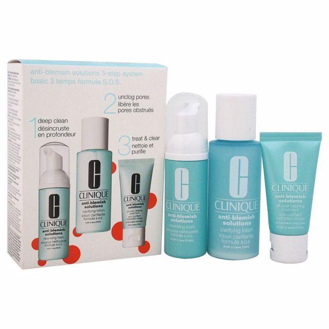 Clinique Anti Blemish Solutions 3 Step System Unisex 3 Pc Kit Clinique Anti Blemish Clinique Acne Solutions Skin Repair Serum