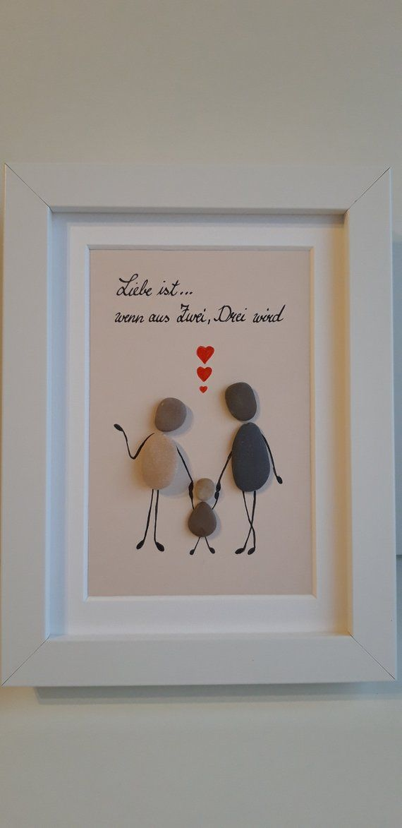 Love Is Stone Picture Vatertag Geschenke Basteln Diy