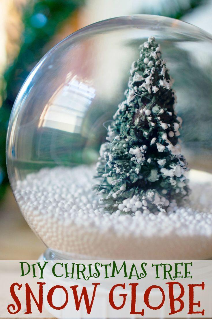 Diy Christmas Tree Snow Globe Diy Christmas Tree Snow Globes Christmas Diy