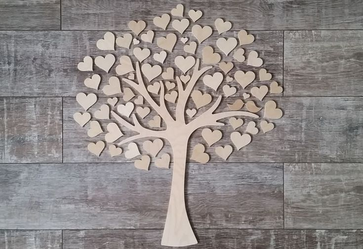 Accessoires - Wedding Tree - Gästebuch zur Hochzeit - Typ 8 - ein Designerstück von KruCon bei DaWanda