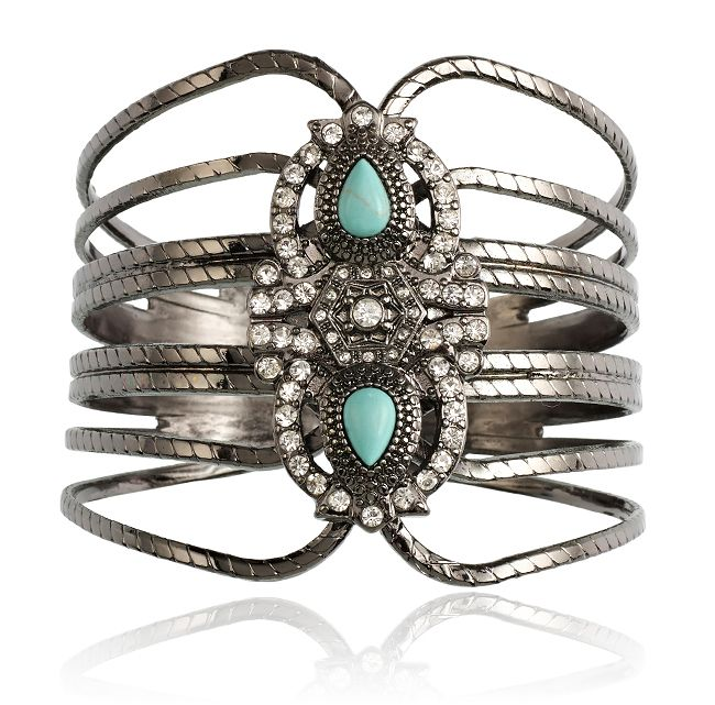 SAMANTHA WILLS - Gemini Dreams Cuff Turquoise; Statement Jewellery Luxe Bohemian Jewelry