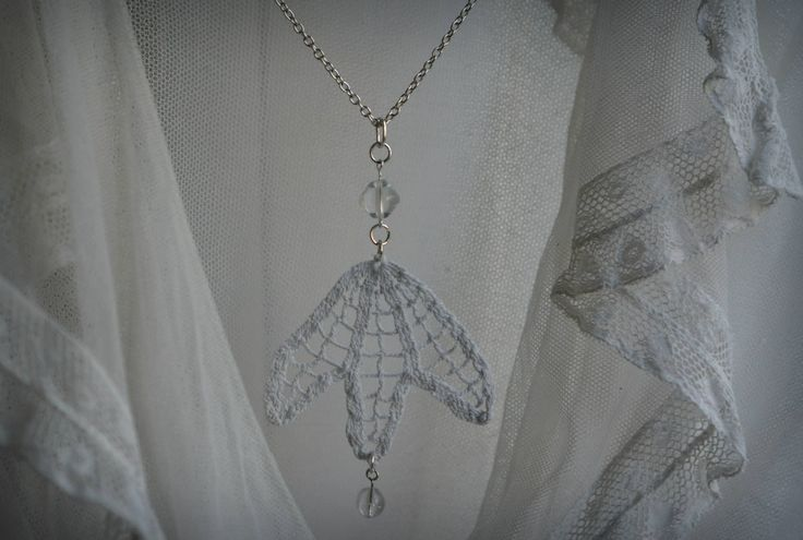 Pendant made of vintage doily