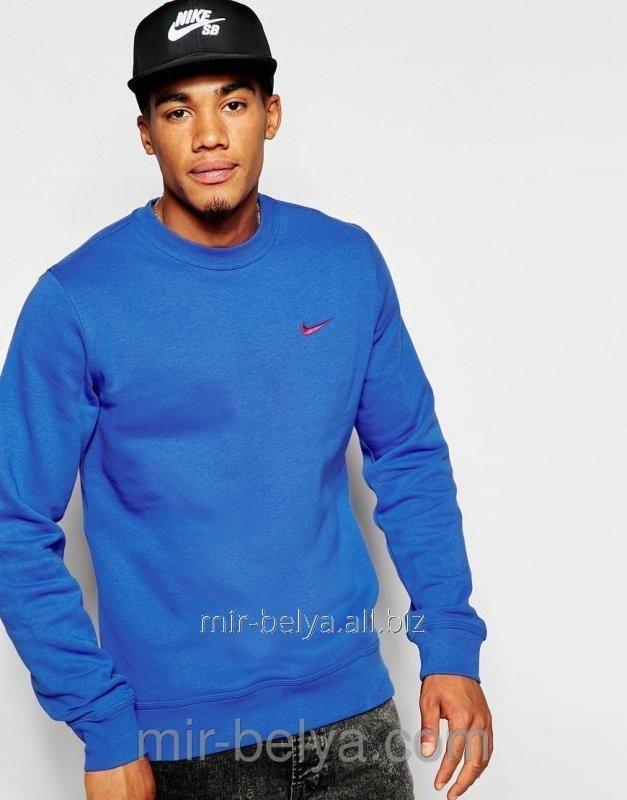 Купить Свитшот мужской Nike толстовка найк теплый синий теплый, арт.144323733