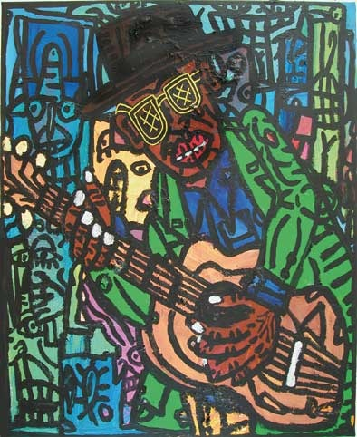FIGURATION LIBRE/Robert Combas John li rocker 2004