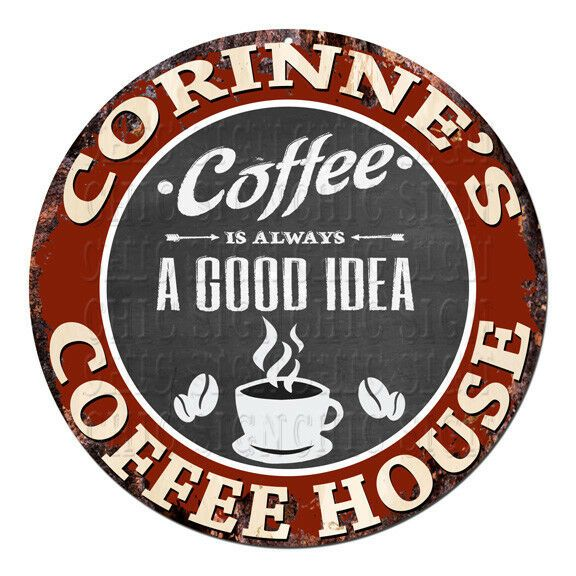 CPCH-0554 CORINNES COFFEE HOUSE Chic Tin Sign Deco…