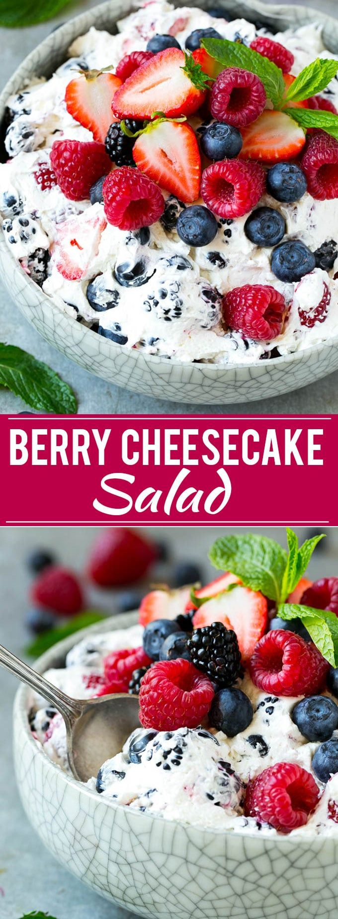 Berry Cheesecake Salad Recipe | Easy to modify for THM