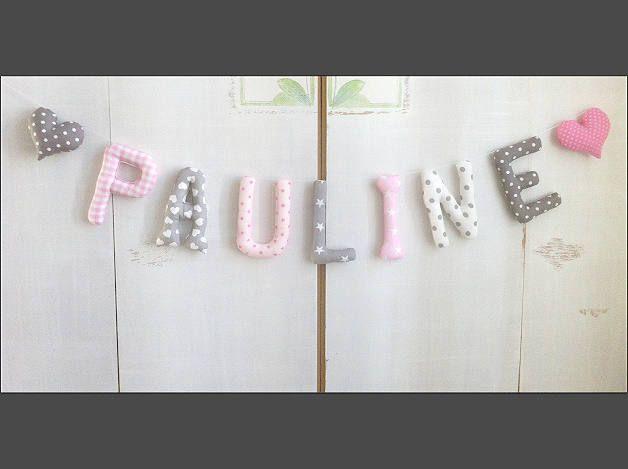 Girlande babyzimmer ~ Stoffbuchstaben *pauline* buchstabengirlande girlande vorname