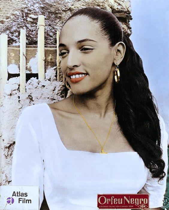 Actress Lourdes de Oliveira in a promotional photo for the 1959 film, Orfeu Negro (Black Orpheus).