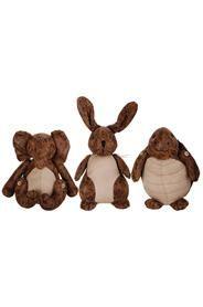 Ajtókitámasztó koptatott bőrből, három fajta állatfigura.Nyúl, teknős, elefántMérete: magasság: 19 cm szélesség:10 cm mélység: 10 cmSúlya: 0,94 kg