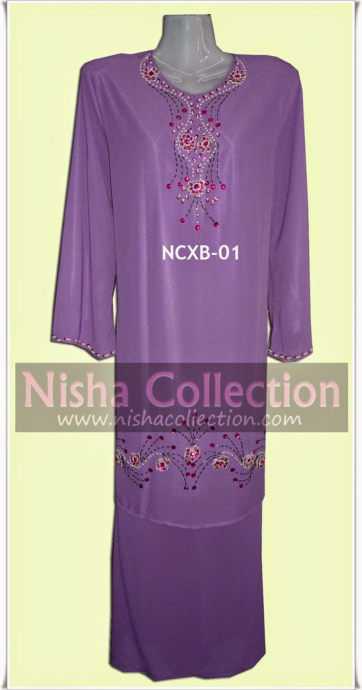 Nisha Collection: Baju Kurung Moden Chiffon Plus Size | Baju Kurung ...