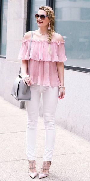 970638c408a Pastel pink off shoulder tops in 2019
