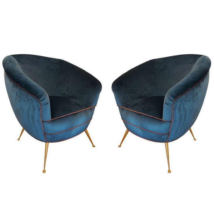 50's Italian All Round Armchairs #ModernsPIN