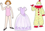 Free Paper Doll Clipart -- using to teach spanish clothing vocab
