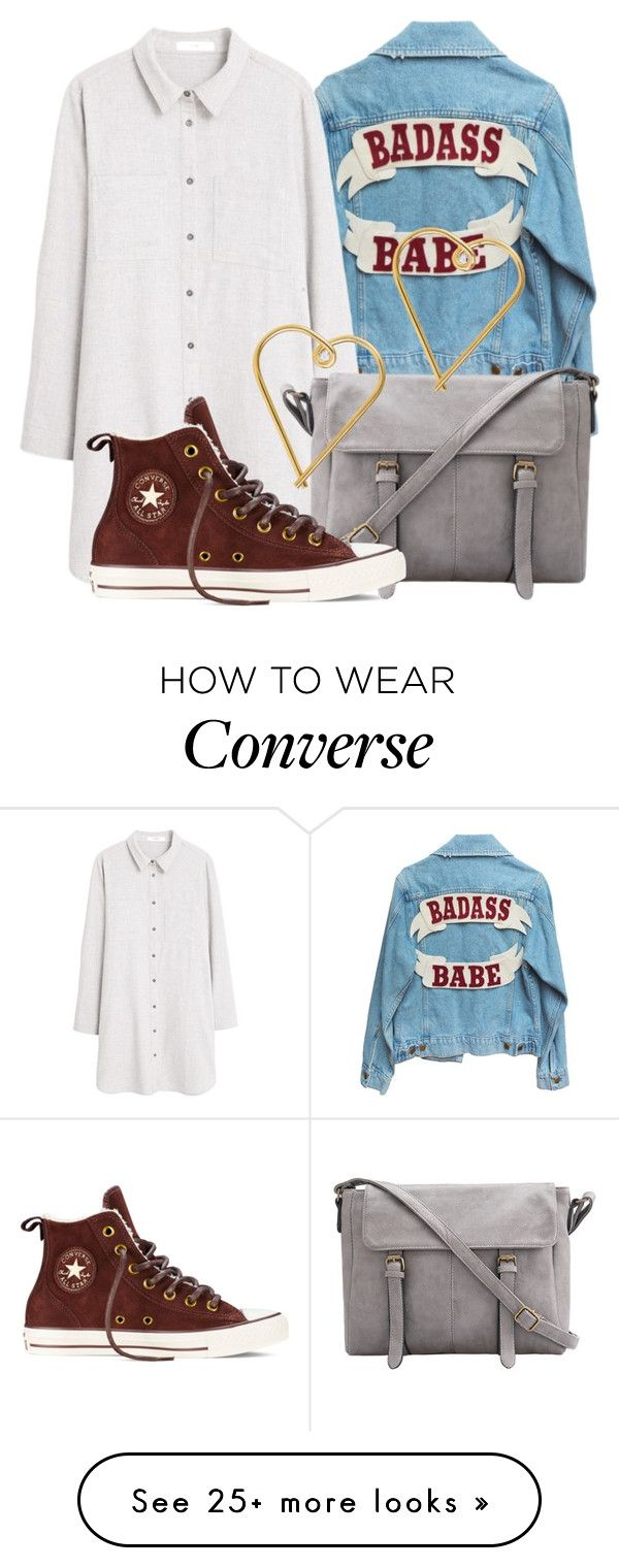 """""""BAMF"""" by lovepolyvore on Polyvore featuring MANGO, Converse, Lee Renee, women's clothing, women, female, woman, misses and juniors"""