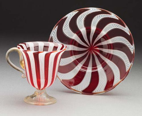 Coffee Cup and Saucer  Murano Glassworks, 1920  The Los Angeles County Museum of Art