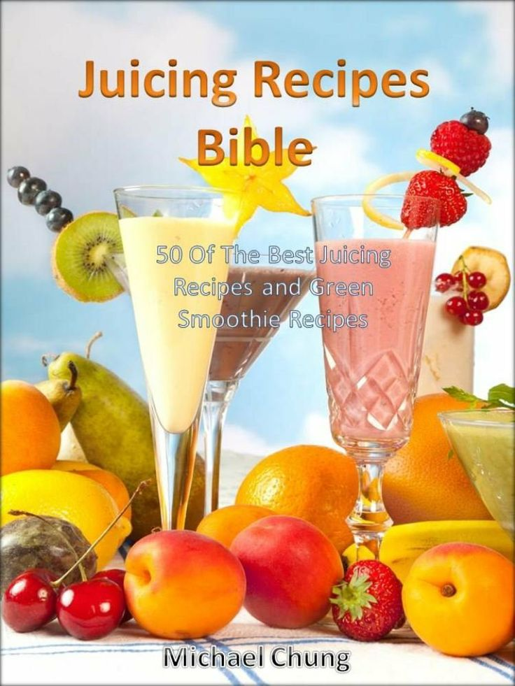 Juicing Recipes Bible: 50 Of The Best Juicing Recipes and Green Smoothie Recipes  by Michael Chung ($1.20) http://www.amazon.com/exec/obidos/ASIN/B00EGEG0U0/hpb2-20/ASIN/B00EGEG0U0 Great recipe book. - I can't wait to try some of these recipes. - I recommend this book to anyone that wishes to stay healthy.
