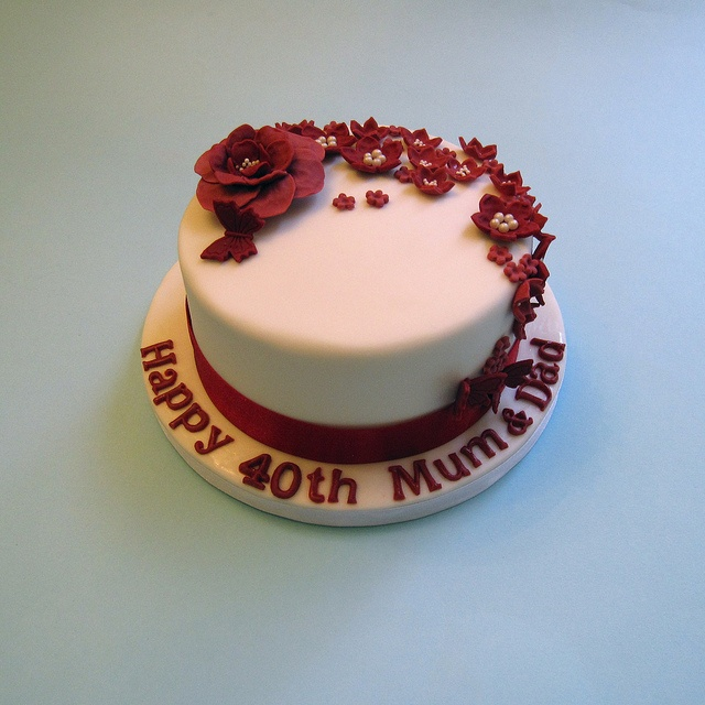 40th Wedding Anniversary Cake Decorating Ideas Best Images About Ruby Cakes On
