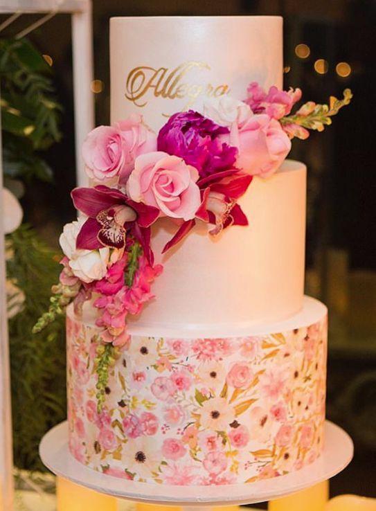 Wedding cake idea; Featured Photographer: Symbolique Photography, Featured Cake: Cakes 2 Cupcakes