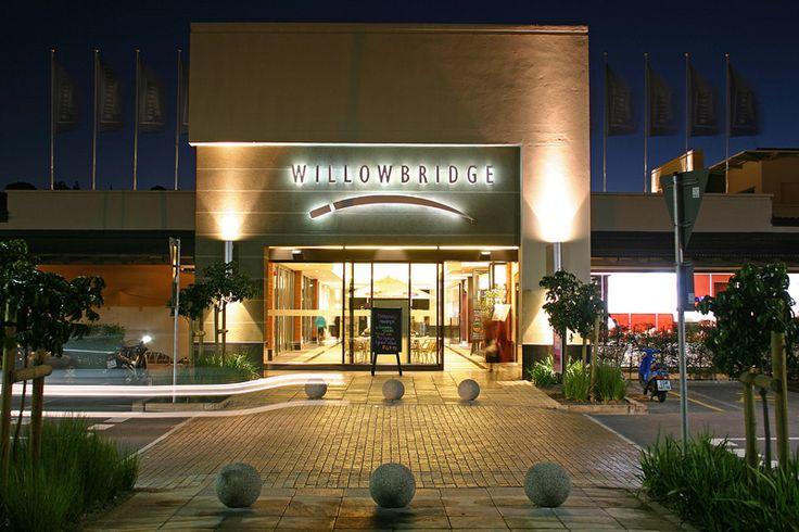 Shopping centre entrance.