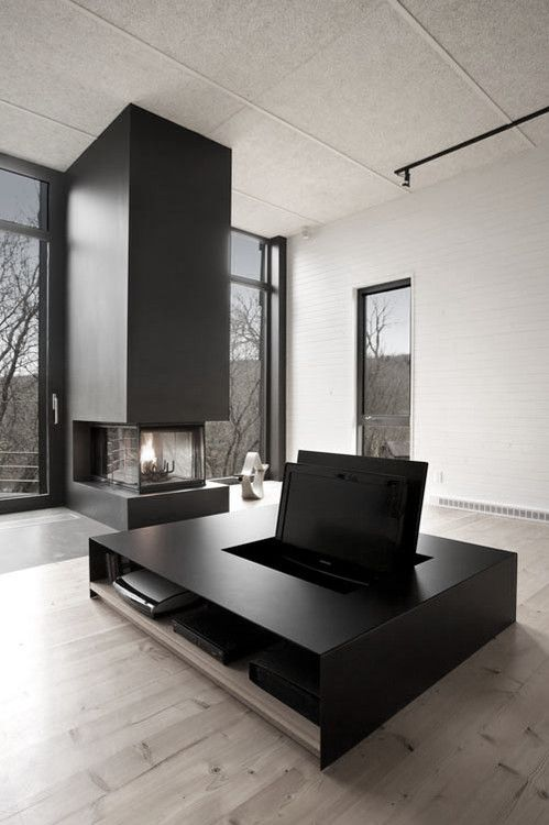 Charming Minimalist Masculine Modern Interior Fireplace Part 30