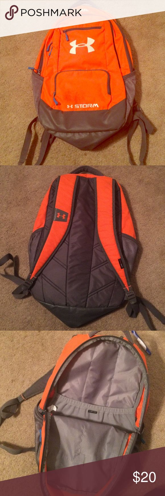 Under armor heat gear, storm backpack Great condition worn only half a school year to small for what I was looking for! Also willing to trade or negotiate with the price! Under Armour Bags Backpacks