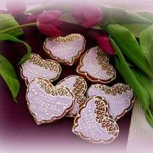 Srdce svatební - perník